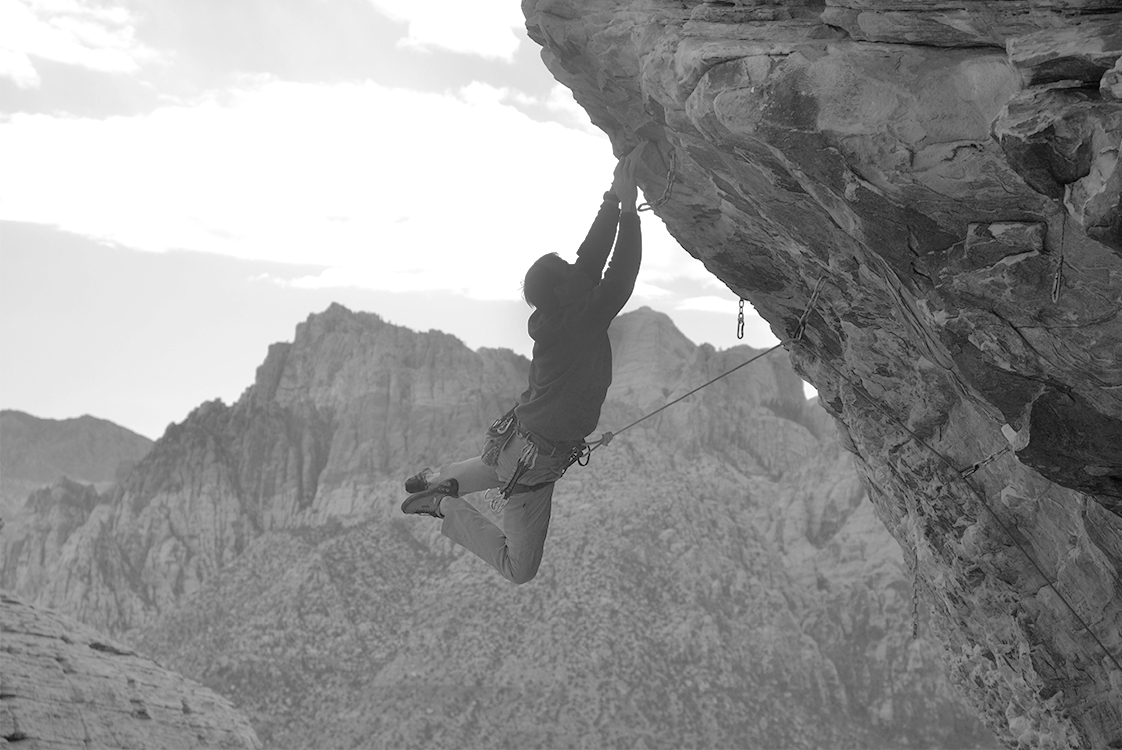 Dan Bech Rock Climbing Black and White Mountains