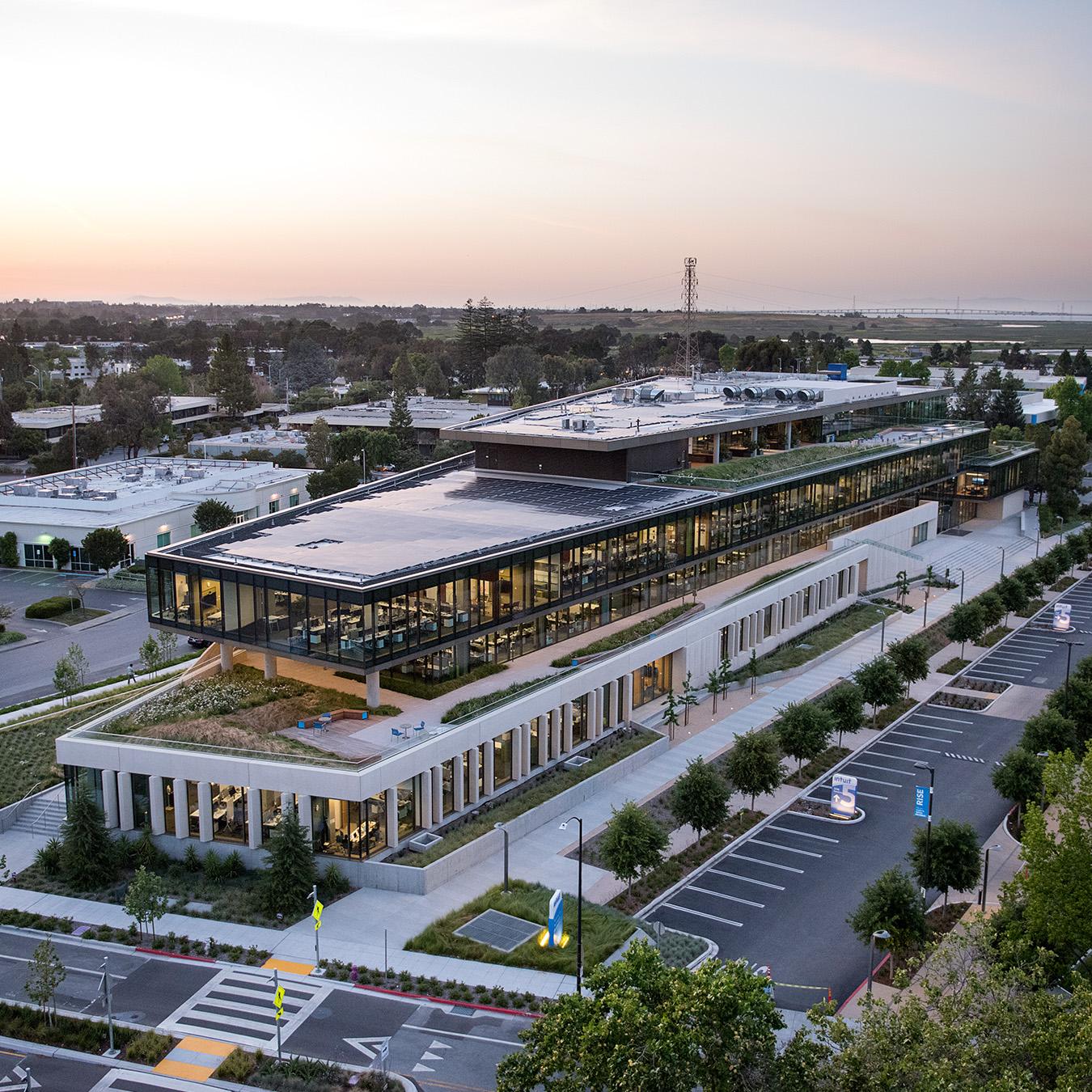 Intuit campus at sunset