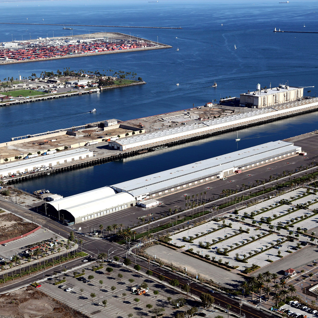 Aerial view of the section of the Port of Los Angeles slated to become AltaSea