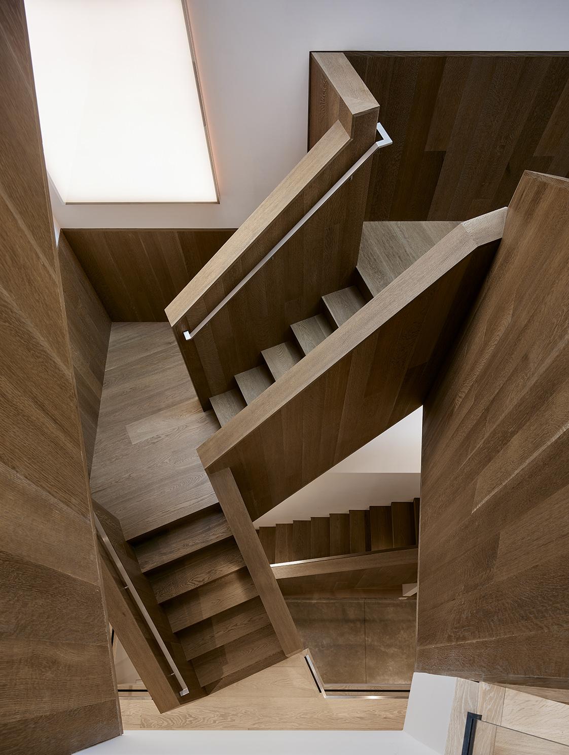 Fulton Street Residence Staircase below