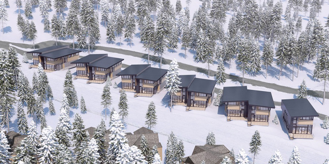 Northstar Stellar Residences Aerial View with Snow