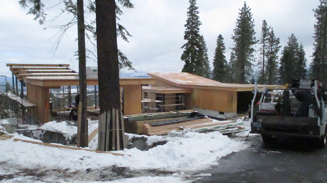 Northstar Stellar Residences under Construction with Snow