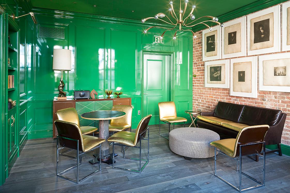 The Battery San Francisco Social Club Green Room Lounge