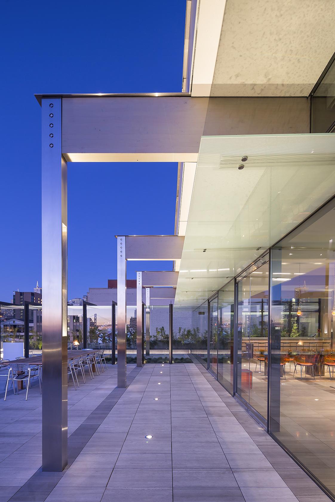 The Battery San Francisco Rooftop Terrace Steel Frames