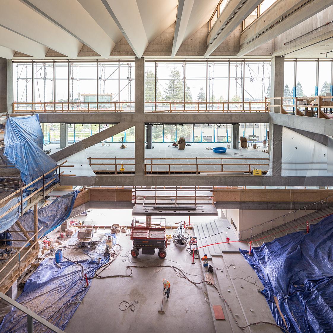Intuit construction atrium skylight