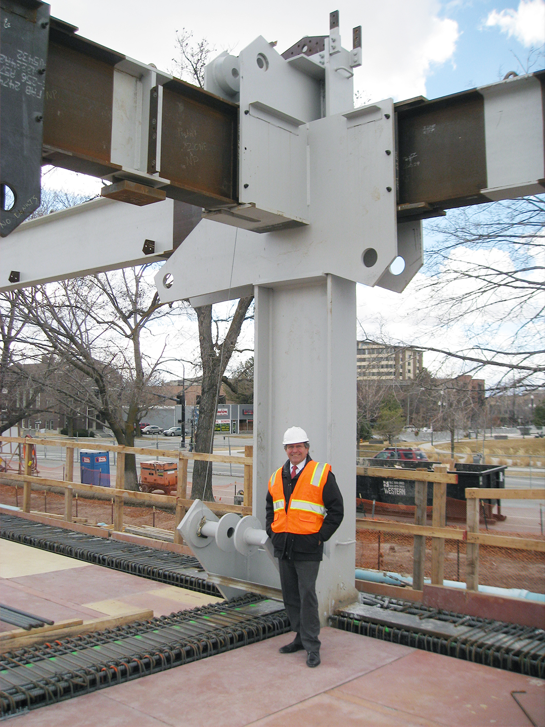 Engineer Richard Dreyer with Steel Moment Frames, Salt Lake City Public Safety Building