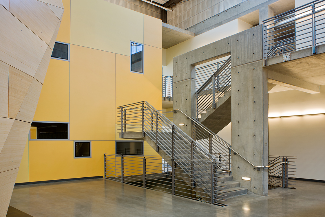 UC Merced Social Sciences and Management Building Interior Stairs and Detailing