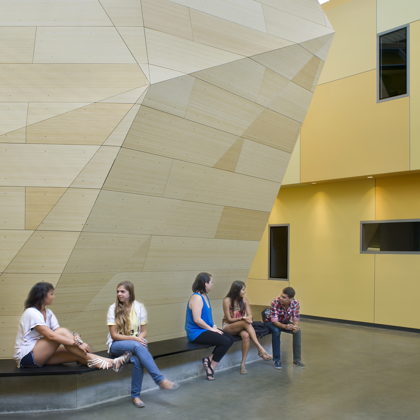 UC Merced Social Sciences and Management Building with Students