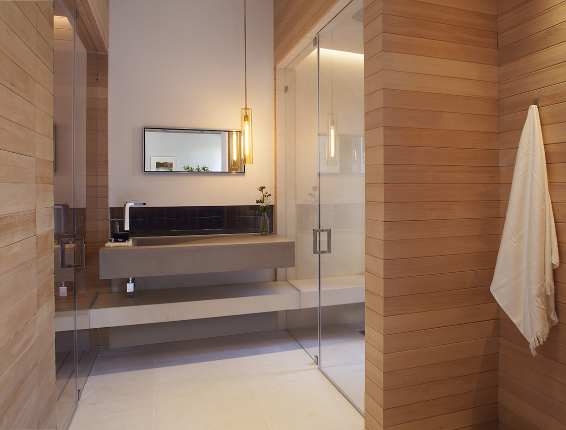 Vallejo Street Residence sauna and shower