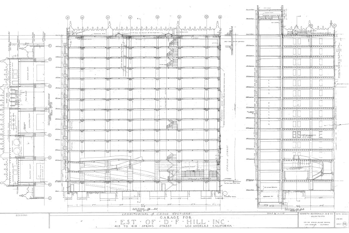 419 S. Spring Street Old Floorplan Drawing