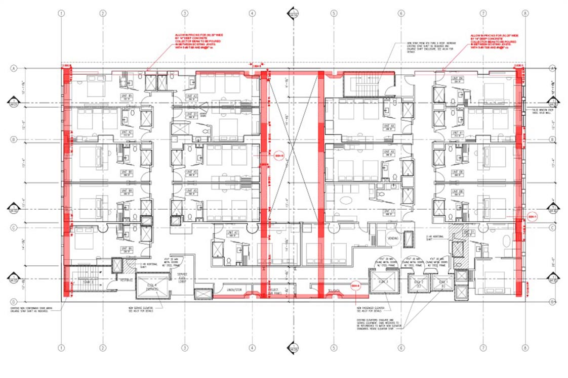 419 S. Spring Street Floorplan Drawing