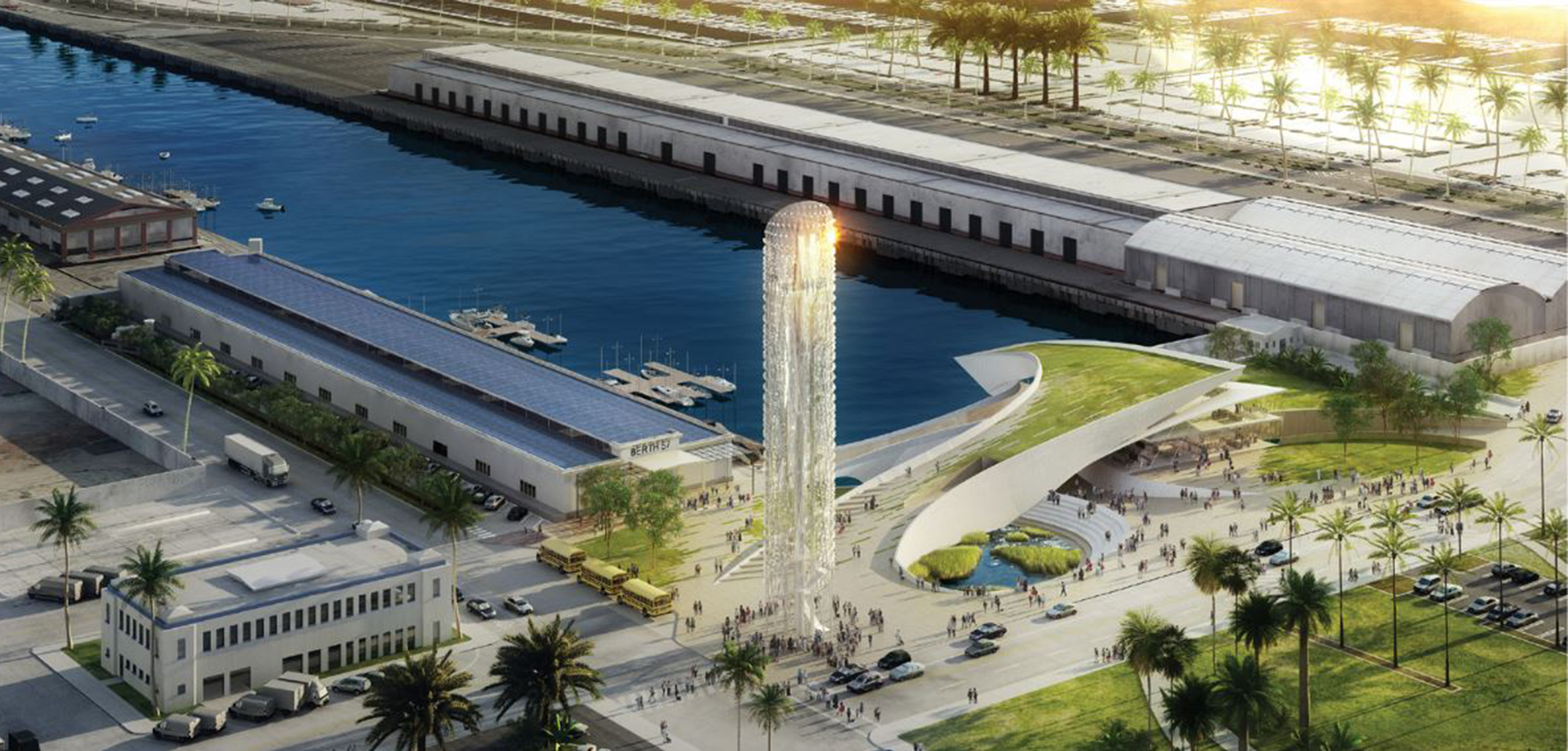Rendering of the Alta Sea Campus at the Port of Los Angeles
