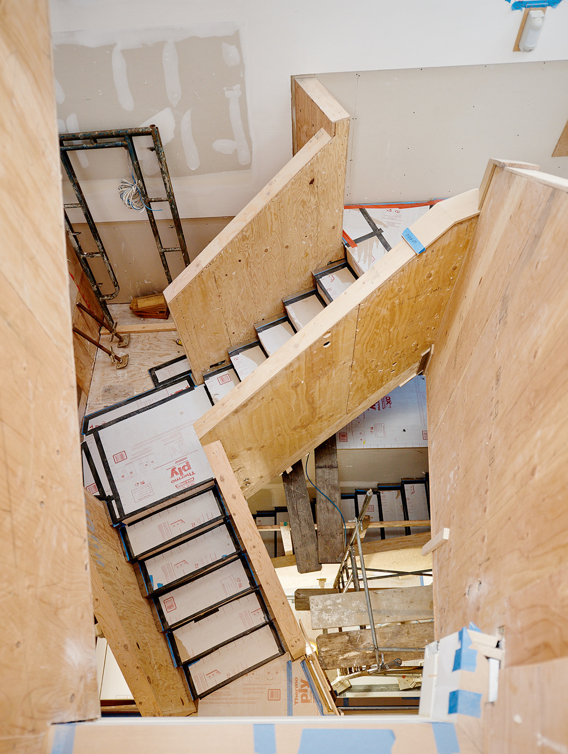 Fulton Street Residence staircase construction