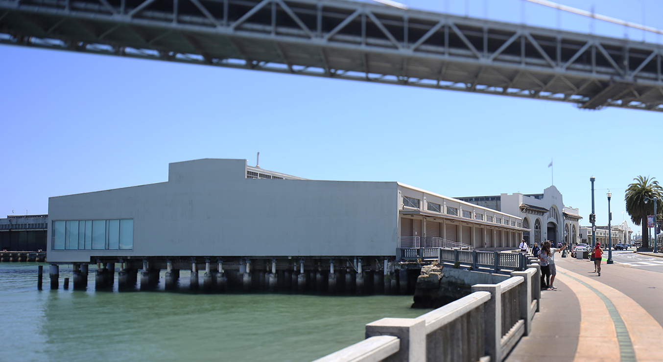 Pilara Foundation San Francisco Exterior along the Embarcadero under Bridge