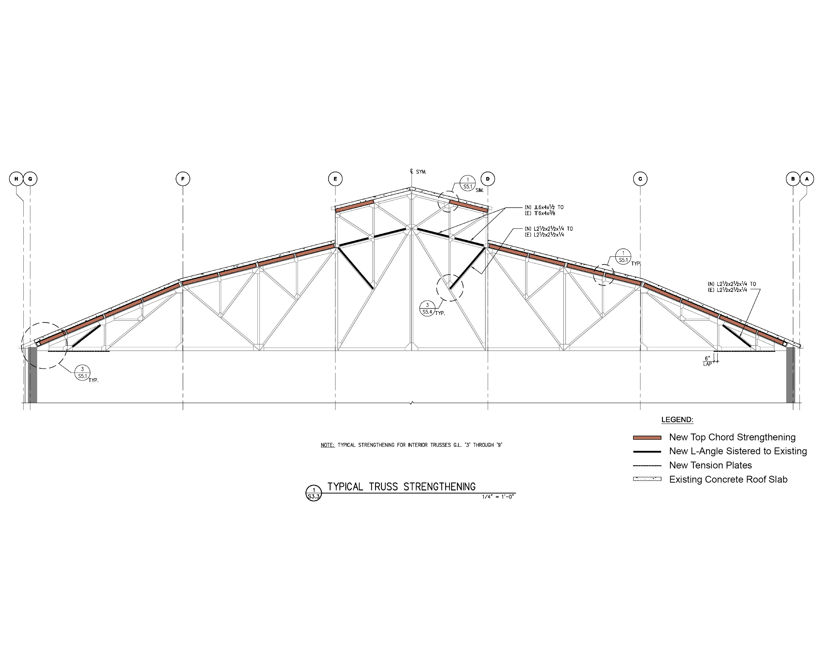 House of Air Structural Plan of Roof Truss Strengthening