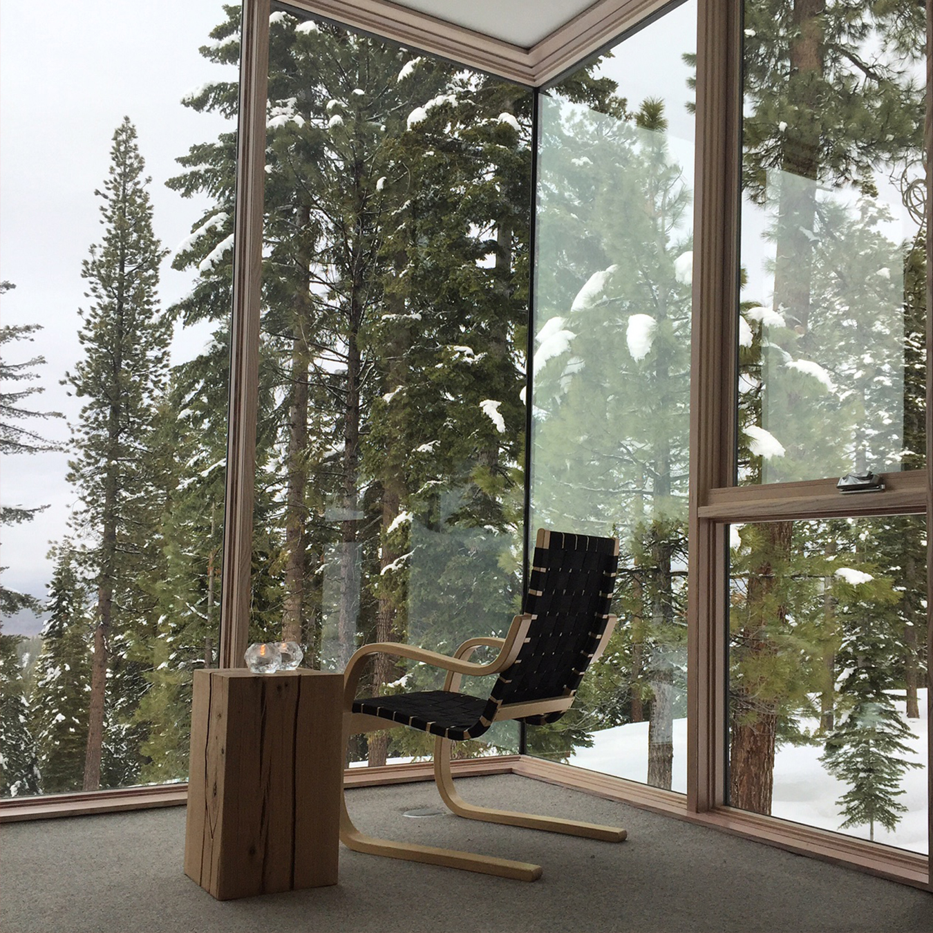 Northstar Stellar Residences Interior with View of Trees and Snow