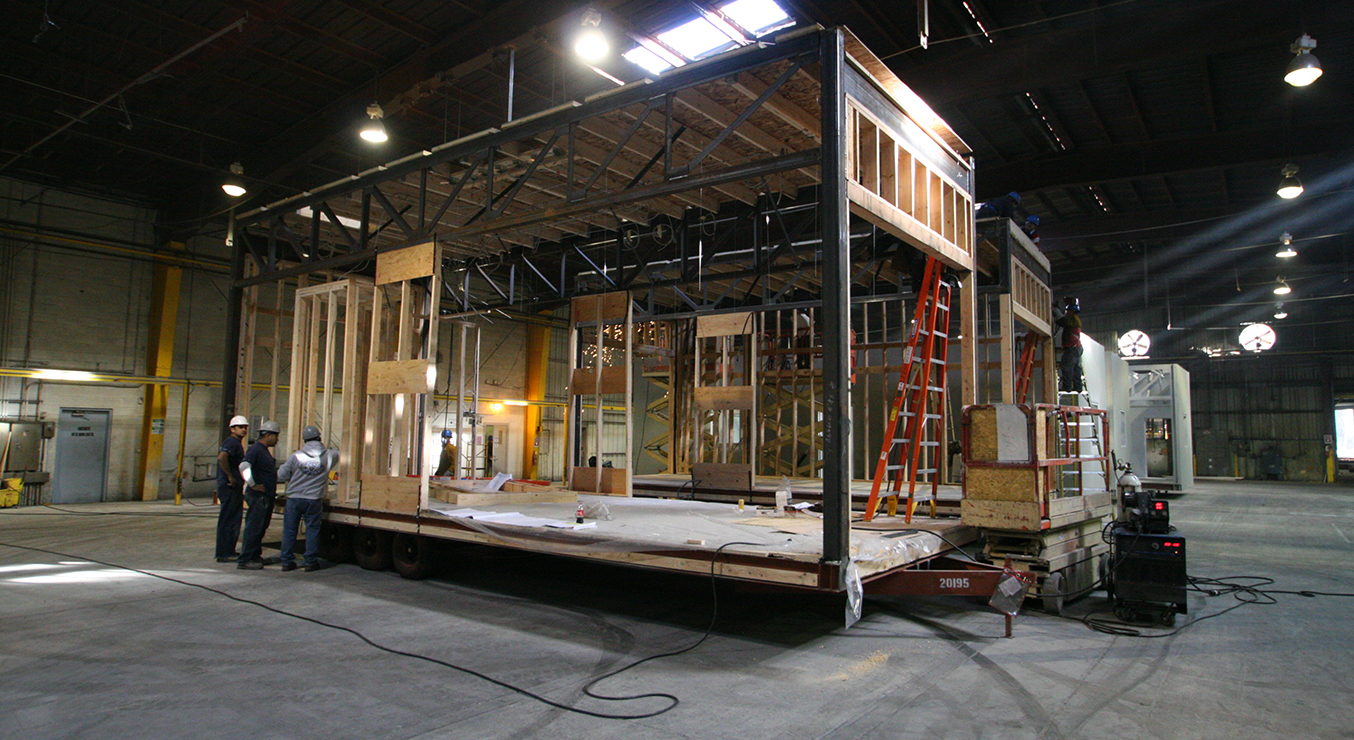 UC San Francisco Kirkham Child Development Center Prefabrication Manufacturing in Warehouse