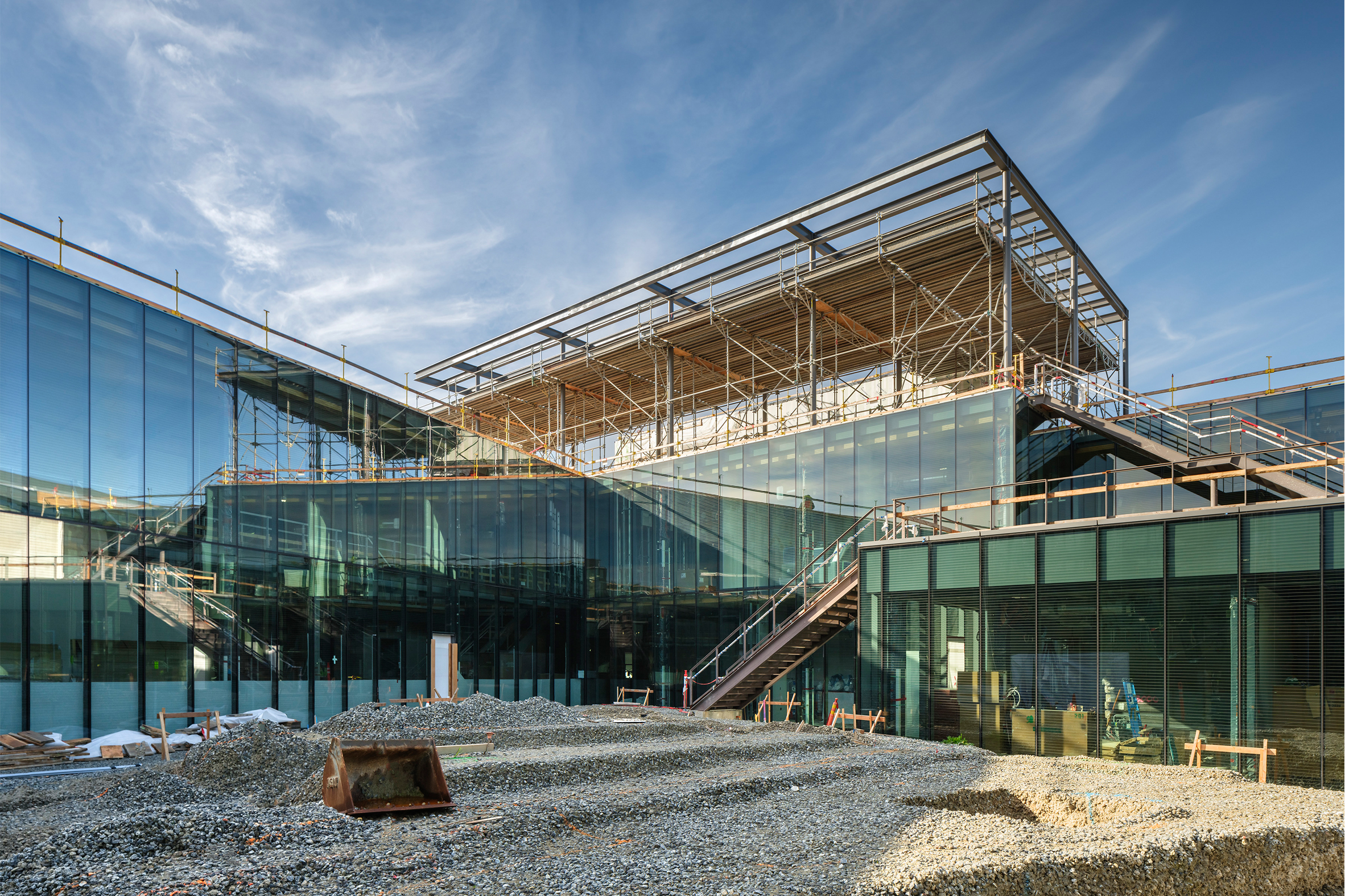 Mass Timber Hybrid Steel Building Under Construction Silicon Valley