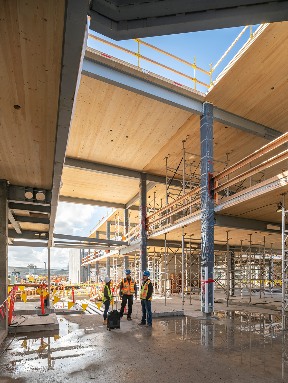 Megan Stringer Structural Engineer on Mass Timber Site Visit in California
