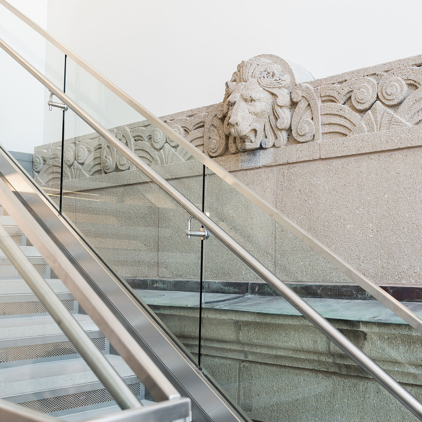 New Construction Meets Historic Motif with Lion at Crocker Science Center - University of Utah