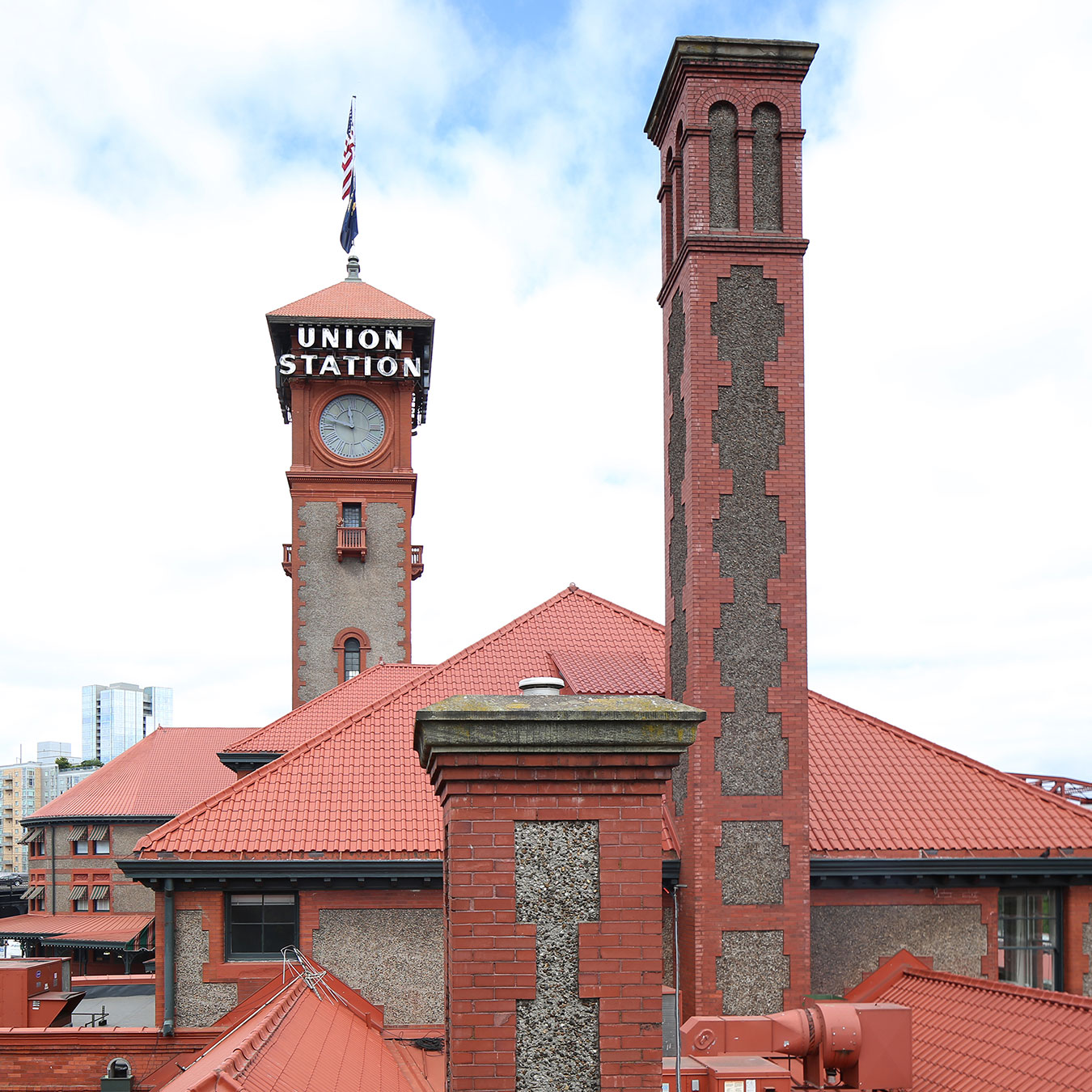 Portland Union Station Towers - originally Unreinforced Masonry Building Portland, Oregon