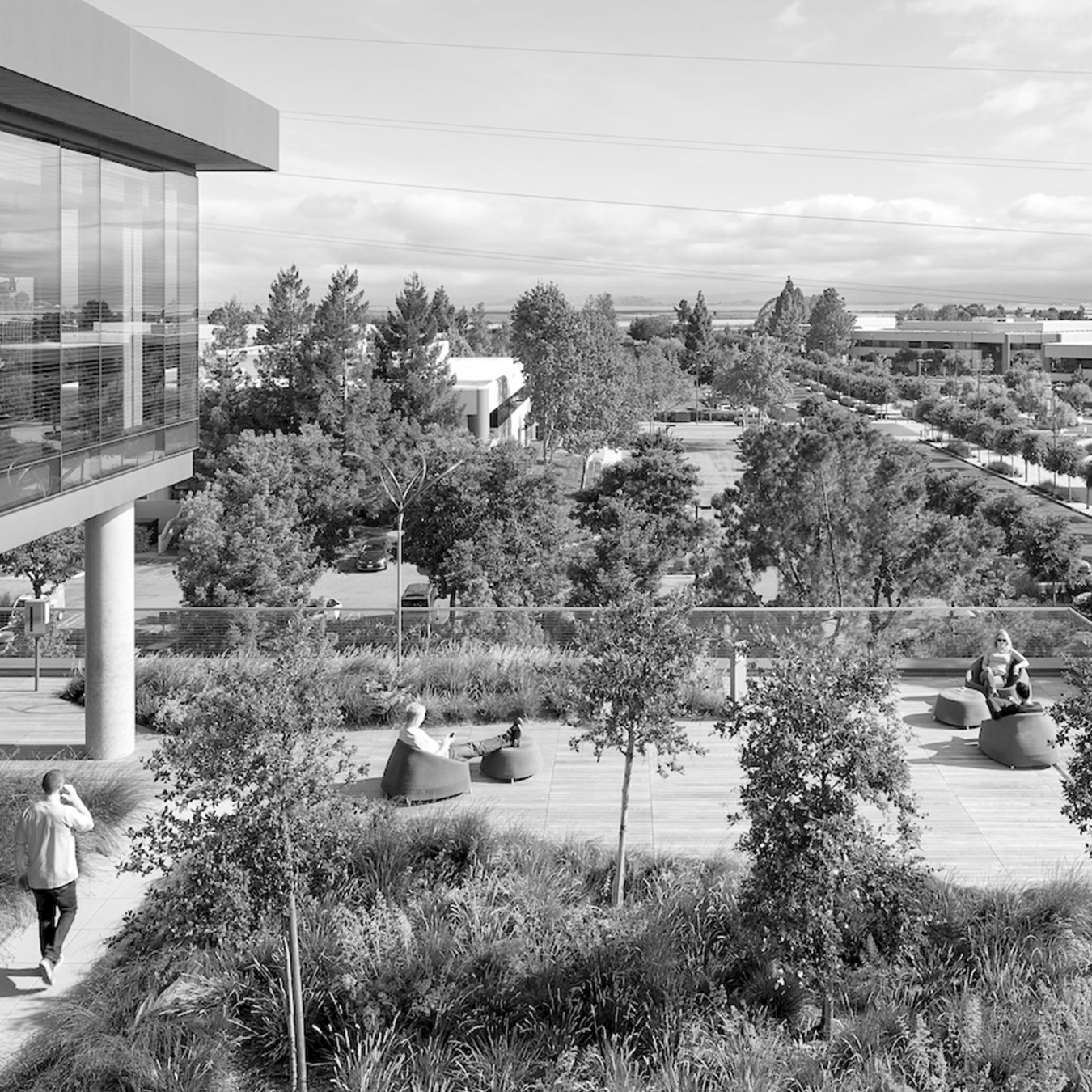 Carbon Neutral Design Concrete Intuit Campus Marine Way Mountain View California