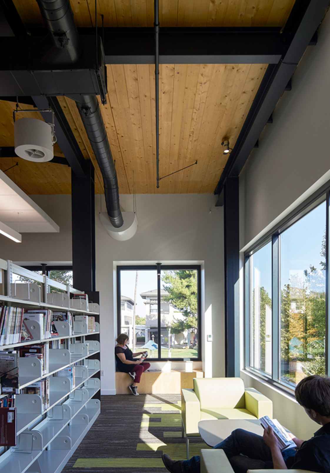 Carbon Neutral Design Mass Timber Building Brentwood Public Library California